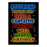 Boyfriend Birthday Card With Bright Colours