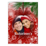 Christmas Photo Globe Ornament Greeting Card