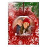 Christmas Photo Template Tree Ornament Design Card