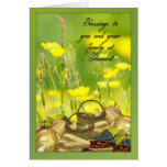 Shavuot Blessings - Shavuot Card With Fiest