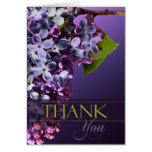 Thank You Acknowledgement Card Floral Flowers
